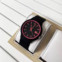 Красивые мужские часы Lacoste 2613 Black-Pink