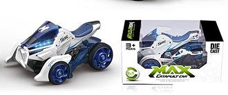 Игрушечный мотоцикл и трицикл MY 66 M 1222, инерционный (белый)