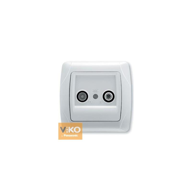 Розетка спутниковая оконечная (TV+SAT) VIKO Carmen - Белый