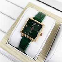 Красивые мужские часы Bolun 5598L Green-Gold
