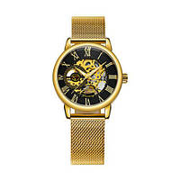 Красивые мужские часы Chronte 412 Gold-Black