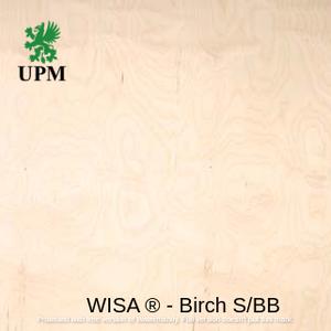 Фанера ФСФ водостойкая S/BB (1/2 сорт) 6.5*1250*2500 мм WISA® Birch Финляндия