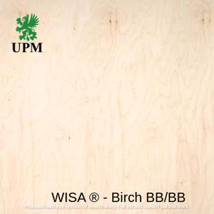 Фанера ФСФ водостойкая BB/BB (2/2 сорт) 6.5*1250*2500 мм WISA® Birch Финляндия