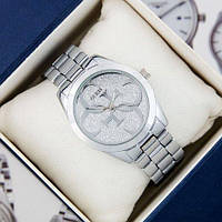 Чоловічі годинники на ремінці Guess 6990 Silver