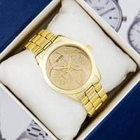 Чоловічий годинник з ремінцем Guess 6990 Gold