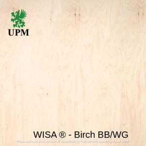 Фанера ФСФ водостойкая BB/WG (2/3 сорт) 6.5*1250*2500 мм WISA® Birch Финляндия