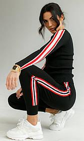 Стильный трикотажный  костюм в 3 цветах в размере S/M иL/XL