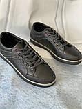 Темно-серые мужские кеды, фото 3