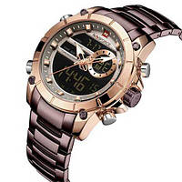 Красивые мужские часы Naviforce NF9163 Brown-Cuprum