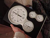 Барометр, гигрометр, термометр. Кварцевые настенные часы., фото 1