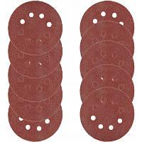 Абразивні диски (шкурки)180мм 10шт. VERKE (120 зерно) V44195