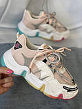 Яркие спортивные кроссовки женские с радужной подошвой, фото 3