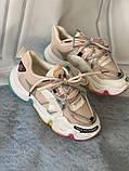 Яркие спортивные кроссовки женские с радужной подошвой, фото 4