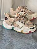 Яркие спортивные кроссовки женские с радужной подошвой, фото 5