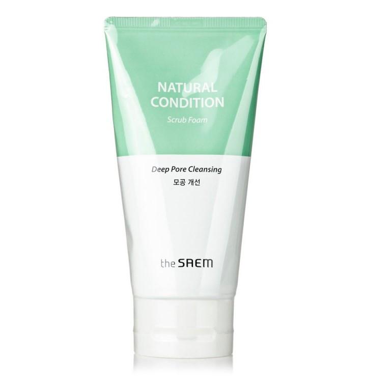 Пенка-скраб для лица The Saem Natural Condition Deep Pore Cleansing Scrub Foam 150 мл