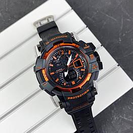 Мужские наручные часы Casio G-Shock GW-A1100 Black-Orange