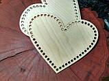 Донышки для вязанных корзинок сердце, фото 3