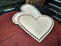 Донышки для вязанных корзинок сердце