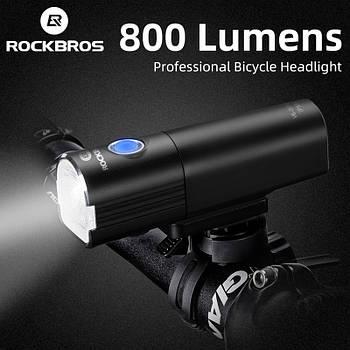 Велосипедный фонарь ROCKBROS V6-800 (800LM, 2500mAh аккумулятор, Cree XPL, USB, IPX6, 7 режимов)