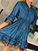 Праздничное платье Медуза размер единый 44-50 ткань люрекс хамелион