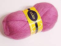 Пряжа ангора Nako Angora, 50% акрил 50% мохер 100 гр., 550 м, Колір 1249, бузково-рожевий