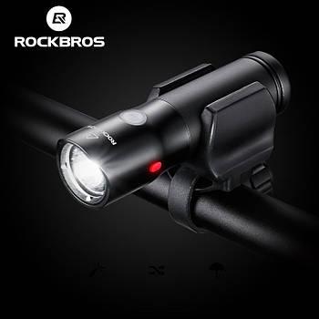 Велосипедный фонарь ROCKBROS BC02T-700+Power Bank+RED Light (700LM, 2000mAh батарея, Cree XMR-T6, USB, IPX6)