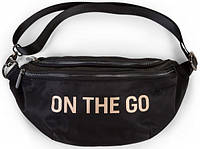 Сумка на пояс Childhome Banana Bag - On the Go, черная с золотом, фото 1