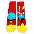 Шкарпетки високі з принтом Містер Крабс розмір 37-43, фото 2