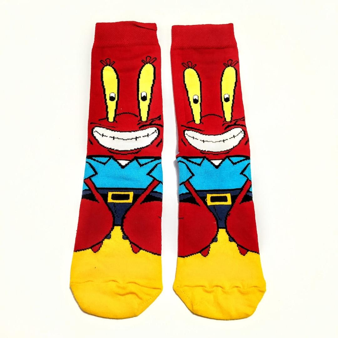 Шкарпетки високі з принтом Містер Крабс розмір 37-43