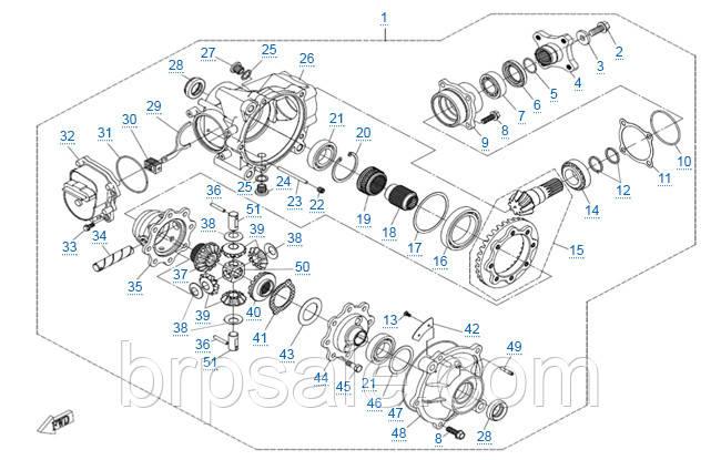 Шайба регулировочная 54.5x43 CFMoto ADJUSTING WASHER 54.5x43