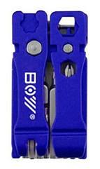 Набор инструмента/мультитул вело/велосипедный компактный 21-в-1 BOY 8060 с выжимкой цепи СИНИЙ