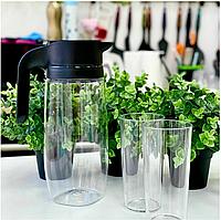 Tupperware набор Кристалл кувшин и 2 стакана, фото 1