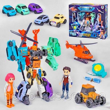 Трансформер Тобот Гига 10 Робот Машин 7 Шт Tobot Giga 10 фигурки,
