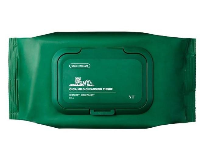 Очищающие салфетки VT Cosmetics Cica Mild Cleansing Tissue 50 шт