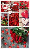 """Подарочные пакеты """"Цветочный коллаж"""" 17 х 26 см  (6 шт/уп)"""