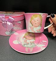 Чашка с блюдцем Гапчинская Люблю тебя 924-697, фото 1