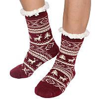 Шерстяные женские носки с отворотом размер 36-38