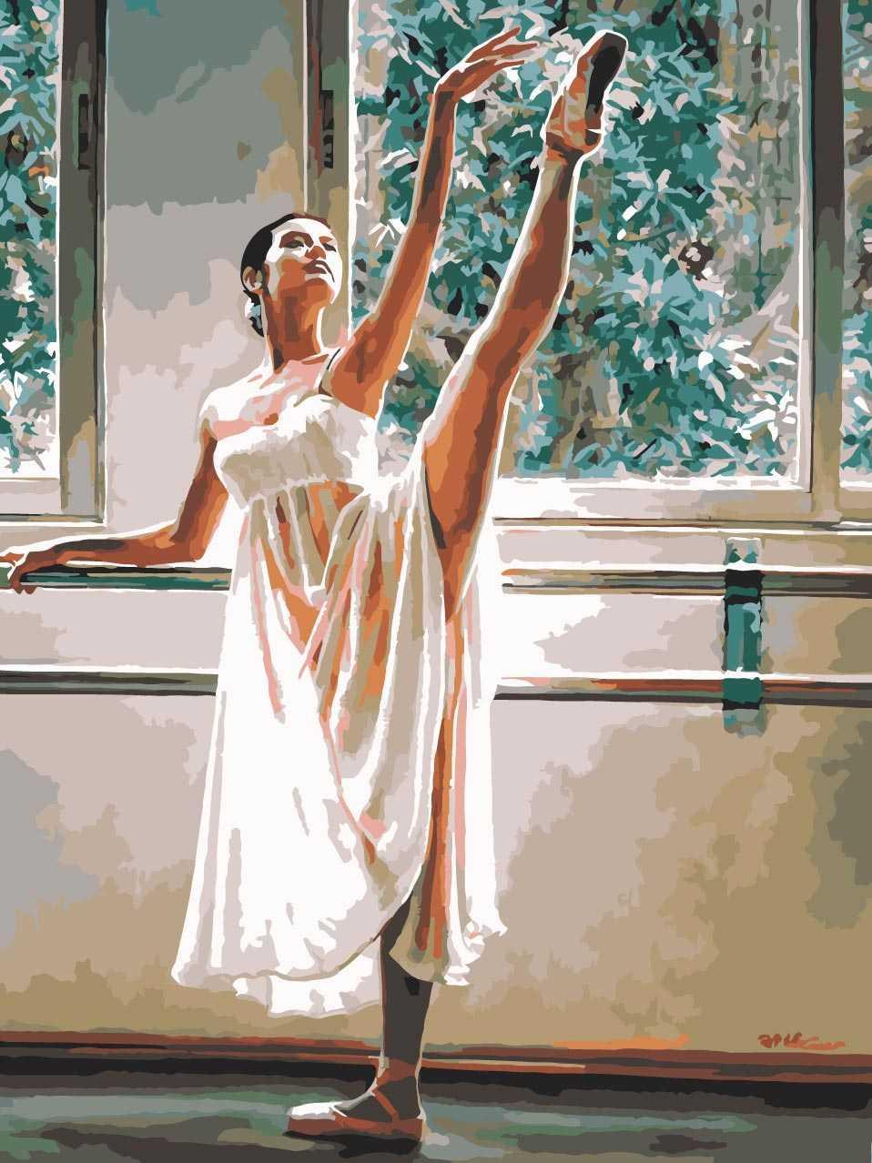 Картина по номерам на холсте 40*50 см с акриловыми красками