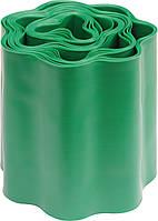 Бордюрная лента для газона зеленая FLO 150 мм 9 м 88701