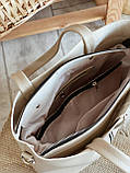 Сумка шоппер с фурнитурой-молнией и ремешком 4253, фото 5