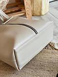 Сумка шоппер с фурнитурой-молнией и ремешком 4253, фото 4