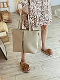 Сумка шоппер с фурнитурой-молнией и ремешком 4253, фото 7