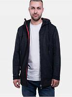 Мужское демисезонное пальто с капюшоном Riccardo Пальто T5 Серый (RI-10)