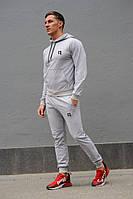 Cерый мужской спортивный костюм Reebok (Рибок), весна-осень (реплика) (MD-3)
