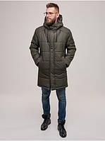 Мужская теплая зимняя куртка с капюшоном качественная Riccardo Мужская зимняя куртка WL-2001 Хаки (RI-10)