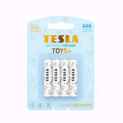 [AAA TOYS BOY] Первинні елементи та первинні батареї, циліндричної форми, діоксид-марганцеві, лужні TESLA
