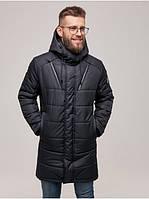 Мужская теплая зимняя куртка с капюшоном качественная Riccardo Мужская зимняя куртка WL-2001 Черный (RI-10)