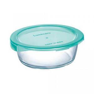 """Пищевой контейнер Luminarc """"Keep`N"""" круглый бирюзовой с крышкой 920 мл P4526/P5523"""