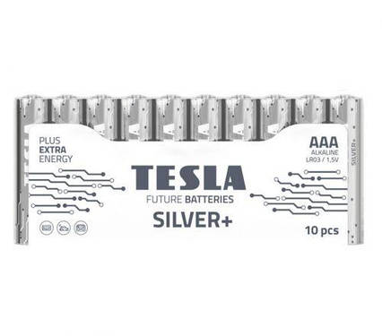[AAA SILVER+10M] Первинні елементи та первинні батареї, циліндричної форми, лужні TESLA BATTERIES AAA SILVER+