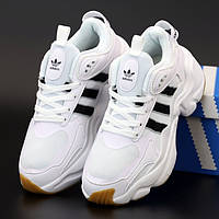 Женские кроссовки в стиле Adidas Consortium Naked Magmur Runner, белый, черный, Вьетнам (КД-4)